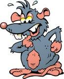 一只恼怒的翻倒鼠的例证 免版税库存图片