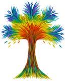 一只意想不到的幻想树鸟 免版税库存照片