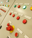 一只特大号货船的控制室 免版税图库摄影