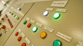 一只特大号货船的控制室 库存照片