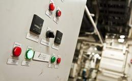 一只特大号货船的控制室 库存图片
