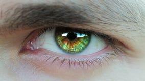 一只男性` s眼睛的特写镜头 股票视频