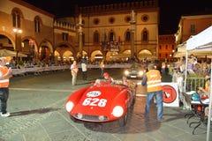 一只红色法拉利500 Mondial蜘蛛Scaglietti 库存照片