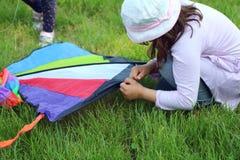 一只美丽的风筝 免版税图库摄影