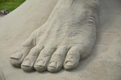 一只脚的Sandsculpture 免版税图库摄影