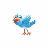 一只蓝色鸟 库存图片