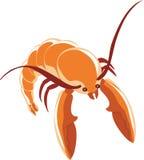 一只虾 向量例证