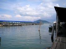 一只跳船在邦咯岛,马来西亚 免版税库存照片