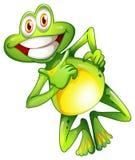 一只非常微笑的青蛙 免版税库存图片