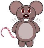 一只非常快乐的常设老鼠 免版税库存图片