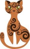 一只风格化红色猫 免版税库存照片
