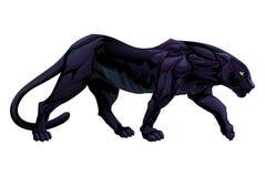 一只黑豹的例证 库存例证