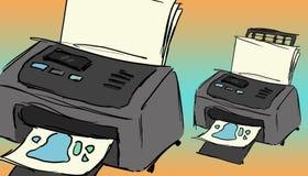 一台五颜六色的打印机的例证 向量例证
