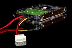 一台先进的计算机的电子零件 免版税库存图片