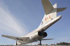 一台加拿大F-18喷气式歼击机的尾声视图 库存照片