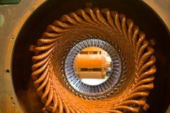 一台大电动机的定子 免版税库存照片