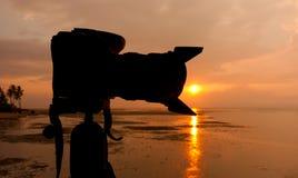 一台数字照相机的剪影 库存照片
