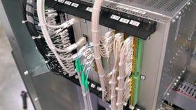 与接线的控制板 影视素材