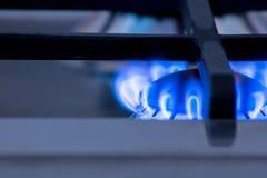 一台燃烧器在厨房里 免版税库存照片