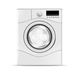 一台现实洗衣机的传染媒介例证 库存图片