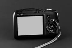 一台现代点和射击照相机的屏幕 免版税库存图片