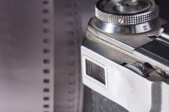 一台老影片照相机的特写镜头反光镜 图库摄影