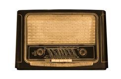 一台老收音机的正面图 库存图片