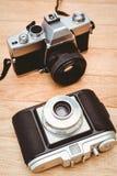 一台老照相机的看法 免版税库存照片