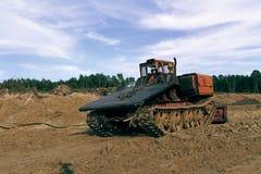 一台老猎物推土机的照片 免版税图库摄影