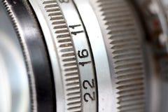 一台老葡萄酒照相机的细节 免版税图库摄影