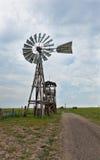 老西部风车 库存图片