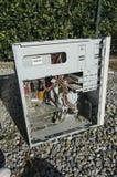 一台老计算机的事例 库存图片