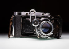 一台老风箱照相机 库存照片