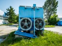 一台蓝色发电器 免版税库存图片