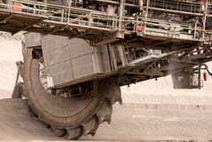 一台非常大戽头转轮挖土机的详细资料 库存图片