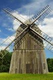 一台风车在夏天 图库摄影