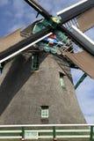 一台风车的细节在Zaanse Schans 库存图片