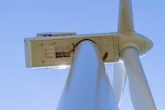 一台风轮机的接近的看法在俄克拉何马 库存图片
