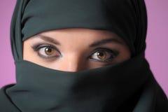 一名东方妇女的画象黑色的 图库摄影