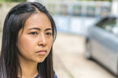 一名亚裔妇女的纵向 库存照片