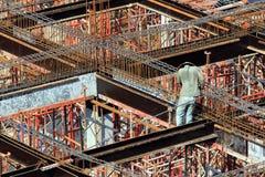 一名人建筑工人 免版税库存图片