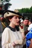 一名妇女的画象历史服装的 免版税库存照片