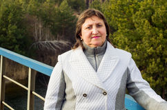 一名妇女的画象白色的 免版税库存照片