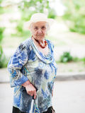 一名年长妇女的纵向 图库摄影