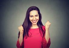 一名愉快的妇女的纵向 免版税图库摄影
