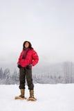 一名成熟妇女的画象雪的 免版税库存照片