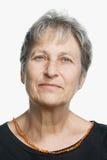 一名成熟妇女的画象 免版税库存图片