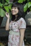 一名新亚裔妇女的纵向 免版税库存照片