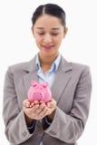 一名新女实业家的纵向 免版税库存图片