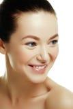 一名新白种人妇女的美丽的表面 妇女秀丽面孔 库存图片